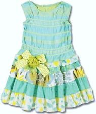 "NEW ZaZa Couture Girls ""LEMON MERINGUE TIERED"" Size 5 bOuTiQuE Dress Clothes NWT"