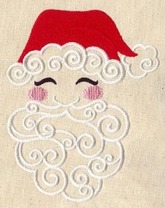 Santa in Swirls | Urban Threads: Unique and Awesome Embroidery Designs