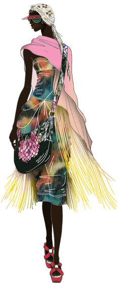 Look amazingly funky Fashion Illustration Sketches, Woman Illustration, Fashion Sketchbook, Fashion Design Sketches, Art Illustrations, Moda Fashion, I Love Fashion, Fashion Art, Glamour Moda