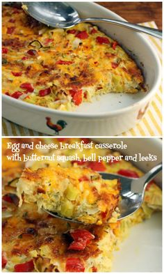 Eggs for breakfast, or for dinner! Serve this casserole with crusty bread and a green salad for #meatlessmonday. #vegetarian #glutenfree
