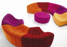 Canapé modulable / design original / en tissu - CHROMATIQUE by Kwok Hoï Chan - steiner