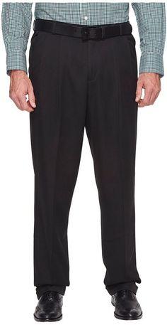 Perry Ellis Portfolio - Big and Tall Double Pleat Melange Portfolio Dress Pants Men's Dress Pants