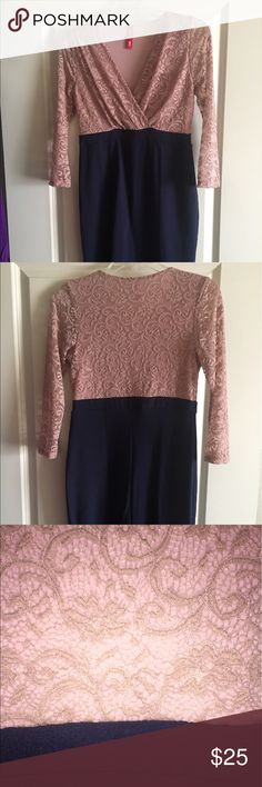 Beautiful stretch lace dress Never used but missing tags. Sold as a maternity and breastfeeding work dress. Since it stretchy it can be used for any stage of a woman's life. Hello MIZ Dresses Long Sleeve