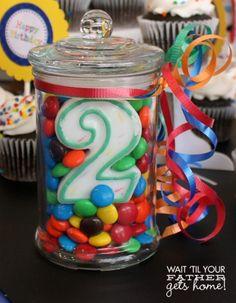 Simple birthday centerpiece