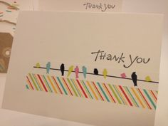 Sewing Barefoot: washi tape cards