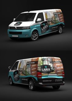 Larix VW T5 - Car Wrap by rados-adv.deviantart.com on @DeviantArt