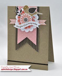 Splotch Design - Jacquii McLeay - Stampin Up - Banner Card