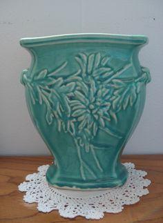 McCoy Turquoise Flower Vase