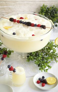 Lemon Sorbet Punch—yum!