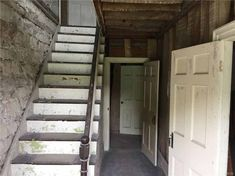 A Piece of North Country History – Your chance to call it your own! Rare opportunity to bring new life to this incredible 1825 stone house which has been formally occupied by noted North Coun… Old Houses For Sale, North Country, Small Farm, Stone Houses, Old House Dreams, Beams, Stairs, Real Estate, The Originals