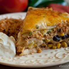 Image for Mexican Lasagna with White Sauce