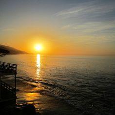"@Patricia Steffy's photo: ""Sunrise from the balcony @Malibu Beach Inn - Carbon Beach during my birthday escape."""