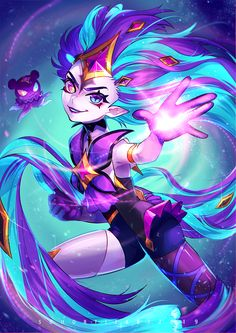 Star guardian Zoe by SouOrtiz on DeviantArt Lol League Of Legends, Angel Of The Morning, Liga Legend, Jobs In Art, Fan Art, Mobile Legends, Step By Step Drawing, Kawaii Cute, Magical Girl