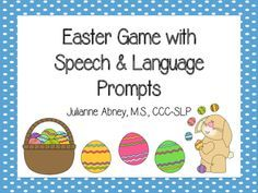 Free! Easter Game with Speech & Language Prompts