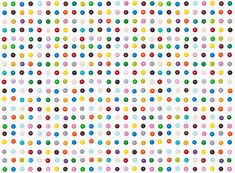 "Henry Hargreaves, M art inspired by Damien Hirst's ""dot"" paintings"