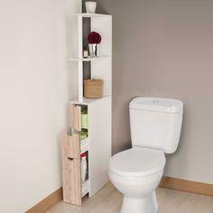 Spécial petits espaces comme les WC ou salles de bain, ce meuble compact en bois mélaminé offre un rangement ultra-fonctionnel ! Dimensions 136 x 33 x 15 cm.... Minimal House Design, Minimal Home, Parisian Apartment, Ikea, Sweet Home, New Homes, Home And Garden, Bathroom, Interior