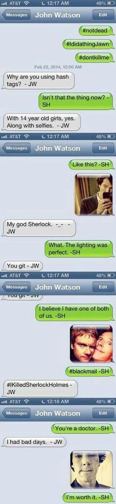 Sherlock & Jawn conversation