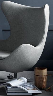 The Egg is a chair designed by Arne Jacobsen in 1958 for Radisson SAS hotel in Copenhagen. It is manufactured by Republic of Fritz Hansen.