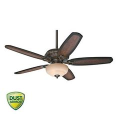 """View the Hunter 54140 Kingsbridge 54"""" 5 Blade Ceiling Fan - Blades and Light Kit Included at Build.com."""
