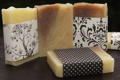 black and white #wedding soap favors   see more fabulous fall favors for $2 or less: http://www.mywedding.com/articles/5-fabulous-fall-favors-for-2-or-less/