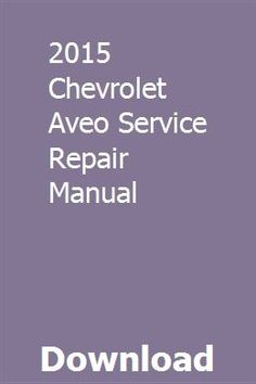 2004 chevy aveo owners manual pdf
