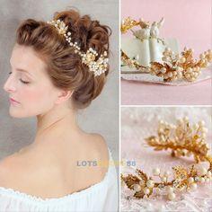 Womens Pearl Crystal Flower Rhinestone Hair Clip Wedding Bridal Bride Headwear in Clothes, Shoes & Accessories, Women's Accessories, Hair Accessories | eBay!
