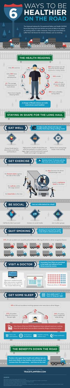 6 Ways To Be Healthier On The Road - Do you fancy an infographic? There are a lot of them online, but if you want your own please visit http://www.linfografico.com/prezzi/ Online girano molte infografiche, se ne vuoi realizzare una tutta tua visita http://www.linfografico.com/prezzi/