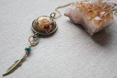 Chakras Dream Catcher Orgonite Necklace-Amethyst Garnet Citrine Tigers eye Aventurine Sodalite Lapis Lazuli.Reiki Energy.Protection.Healing by ElementsOfLifeStore on Etsy