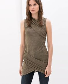 ZARA - NEW THIS WEEK - DRAPED CROSSOVER DRESS