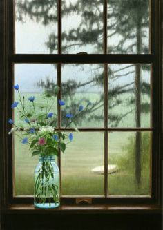 Image result for painting of window looking outside