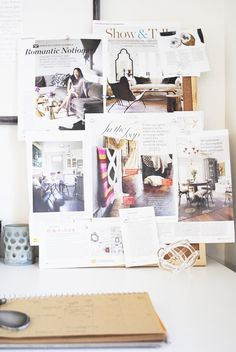 work space | mood board | inspiration board | flourish design + style