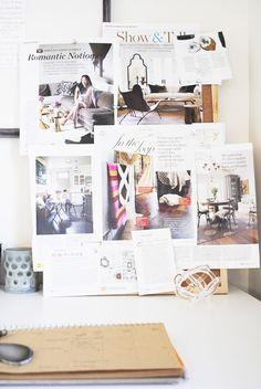 work space | mood board | inspiration board | flourish design + style