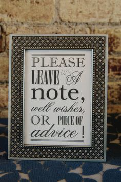 I like this idea in lieu of a traditional guestbook!