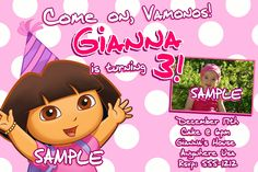 Dora birthday ideas toddlers dora birthday invitations printable dora the explorer birthday invitations filmwisefo