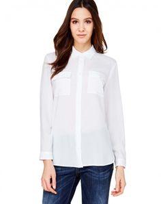 Compra Camisa con bolsillos Blanco de Camisas Y Blusas en la tienda online oficial de United Colors of Benetton.