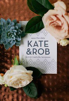 Modern geometric Save the Date #cedarwoodweddings Kate+Robert :: 10.01.2016 | Cedarwood Weddings