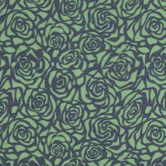 Leafy Green and Purple Rose Burnout Jersey