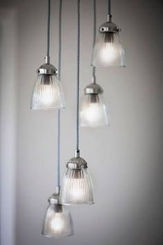 pendant glass light for stairways - Google Search