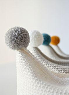 pom pom baby knitted hats