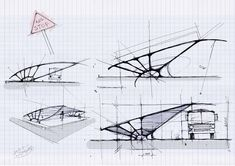 Bus shelter conceptual sketches