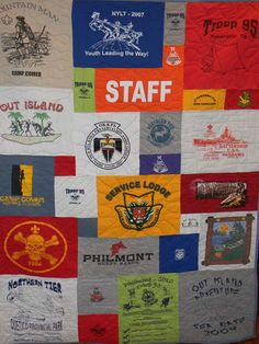 T-Shirt Quilts...this version has different sized squares!