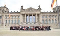 All attendees of the CST European User Conference 2014 before the social event at the German Bundestag.