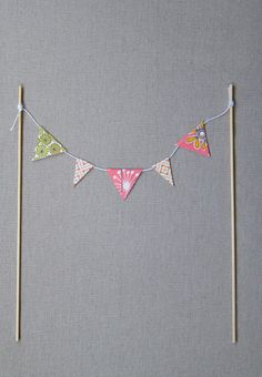 Fabric Party Bunting Hot Pink Sunshine Yellow Spots /& Stripes sold by the 1mt