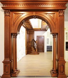 Trendy Ideas For Main Entrance Door Paneling House Arch Design, Room Door Design, Door Design Interior, Wooden Door Design, Main Door Design, Wooden Arch, Wooden Doors, Arched Doors, Panel Doors