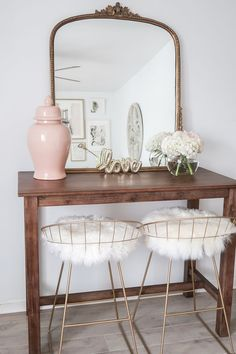 Dining Room of MoneyCanBuyLipstick.com, Cozy Neutral and Blush Living Room - Money Can Buy Lipstick