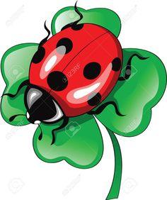 Illustration of ladybug on clower vector art, clipart and stock vectors. Cartoon Kunst, Cartoon Art, Cartoon Characters, Ladybug Art, Fabric Painting, Rock Art, Baby Quilts, Painted Rocks, Vector Art
