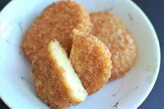 Korokke or Crispy Japanese Style Potato Croquette, lightly flavored with curry.