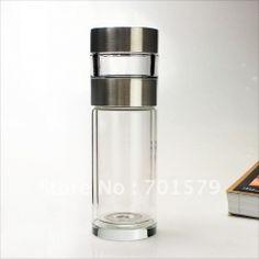 0ecbaf3ecb Стеклянный стакан-термос для заварки чая (260ml double-layer tea master  crystal glass. Infused Water BottleGlass ...
