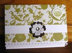 "Modern Lime & Brown ""Thank you"" card by Elmi Raubenheimer"