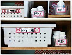 Organize It: The Medicine and Cookbook Cabinet